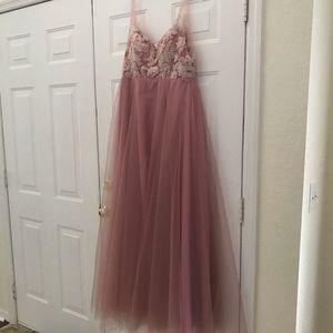 Dusty Pink Formal Dress